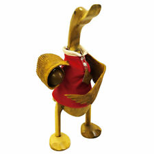 Wooden Duck wearing red rugby shirt - FLY HALF WALES