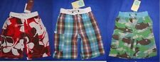 3 NEW Mini Boden SWIM TRUNKS long swim SURF board shorts SWIMSUIT boys 3 4 LOT