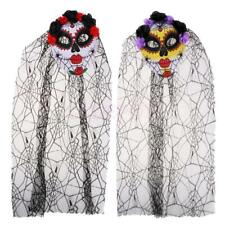 Ladies Zombie Corpse Bridal Mask Halloween Day Of The Dead Fancy Dress Costume