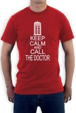 KEEP CALM AND CALL THE DOCTOR T-Shirt Who Cult TV Series Funny cool humor