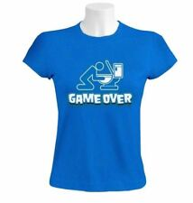 Game Over Toilet Women T-Shirt Drunk drinking beer funny Party Collage WC
