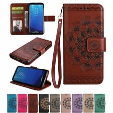 Luxury PU Leather Wallet Case Flower Magnetic Flip Cover For Samsung Galaxy N