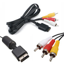 6FT AV Cable For Sony PlayStation PS1 PS2 PS3 Console RCA Audio Video Cord Fast