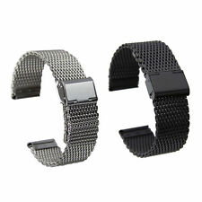 Wrist Watch Band for Skagen Stainless Steel Mesh Band with Double Lock Buckle