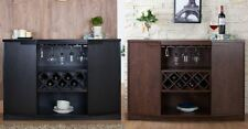 Bar Cabinet Wine Storage Pub Buffet Server Sideboard Table Liquor Stemware New