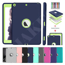 Kids Shockproof Heavy Duty Rubber Hard Hybrid Case Cover For Apple iPad Tablets