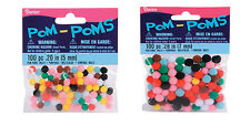 Acrylic Pom Poms - 5mm or 7mm - 100 pieces per package fnt