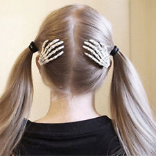 1 Pair Cool Skull Hand Hairpin Gripper Ghost Skeleton Hair Clips Hairclips Witty