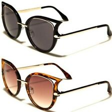 NEW BLACK SUNGLASSES LADIES WOMENS GIRLS DESIGNER CAT EYE RETRO VINTAGE UV400