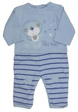 Boys Baby Space Monkey All in One Sleepsuit Romper Newborn to 9 Months
