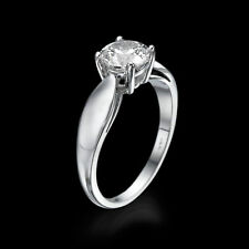 Enhanced Round Certified Diamond Engagement Ring 14KT White Gold 1.20 CT D/VS2