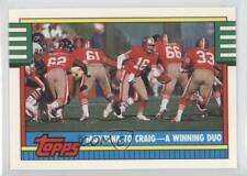 1990 Topps Collector's Edition (Tiffany) 515 Montana to Craig A Winning Duo Card