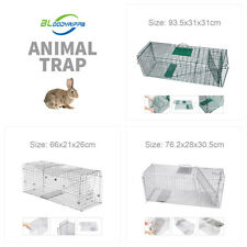 3 sizes Humane Live Animal Trap Possum Rat Feral Cat Rabbit Hare Catcher Cage
