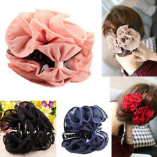 Sexy Flower Chiffon Hair Clip Hair Claw Clamp Wedding Party Lady Accessory Witty