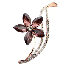 For Women Brooches Simple Design Rhinestone Choose Flower Brooches 3 Colors