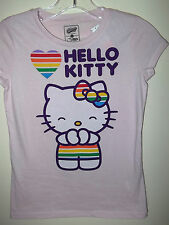 New HELLO KITTY Kid's Girl's T-SHIRT TEE LOVE Heart L Old Navy Pink Purple