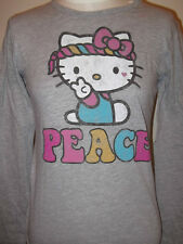New Girls Kids  HELLO KITTY T-shirt SHIRT  Old Navy PEACE Cheerleader Grey L XL