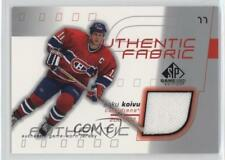 2001 SP Game Used Edition Authentic Fabric #AF-SK Saku Koivu Montreal Canadiens