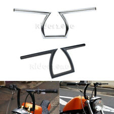 "New Drag Handlebars 1"" Z Bars 8-3/4"" Rise for Harley Custom Chopper Bobber"