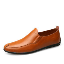 Mens Fashion Genuine Leather Shoes Big Size Slip On Casual Outdoor Rubber Shoes
