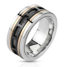 "Coolbodyart Unisex Ring Stainless Steel ""Three Tone Wire"""