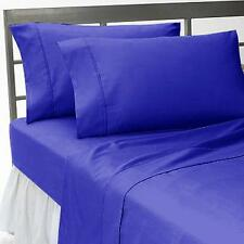 1000TC Egyptian Blue Solid Duvet Collection Egyptian Cotton Select Size & Item