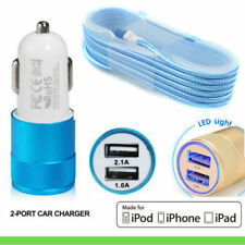 1.5M Apple Lightning to USB Charge & Sync Cable with Car charger and docks