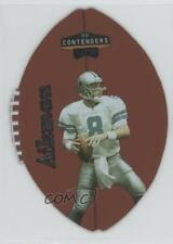 1998 Playoff Contenders Leather Footballs Silver #18 Troy Aikman Dallas Cowboys
