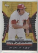2012 Topps Golden Giveaway Contest Moments Die-Cut Gold #GMDC-10 Johnny Bench
