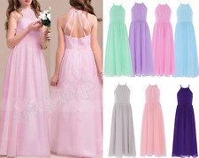 Girls Kids Chiffon Flower Girl Dress Bridesmaid Wedding Prom Pageant Party Dress