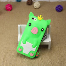 1Pcs Phone Case 4.0 inch Silicone Shell Phone Bag Crown Pig iPhone 5/5S/SE Cute