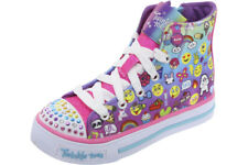 Skechers Twinkle Toes Shuffles Chat Time Multi Light Up Sneakers Shoes