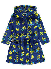 George Boys Kids Official Despicable Me 3 Minions Fleece Hooded Bathrobe Gown
