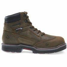 """Wolverine Boots Mens Overman Waterproof Insulated CarbonMax 6"""" EH Work Brown"""