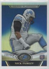 2011 Topps Platinum Blue Refractor #38 Nick Fairley Detroit Lions Football Card