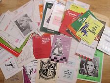 Large & interesting Selection of Theatre Programmes from the 1950's