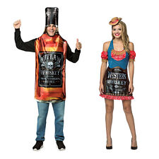 Adult size Get Real Whiskey Bottle or Dress Costume - Outlaw Whiskey Genuine fnt