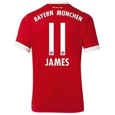 adidas Bayern Munich 2017/18 Men's Home Jersey James 11 Red 1708