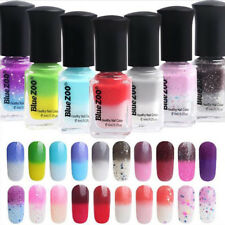 New Color Changing Thermal Nail Polish Peel Off Varnish Dark Purple to Blue New