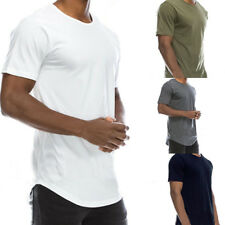Men Casual Summer Cotton Solid T-Shirt Basic Crew Neck Hip Hop Top Tee Cheap