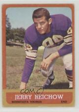 1963 Topps #101 Jerry Reichow Minnesota Vikings Football Card