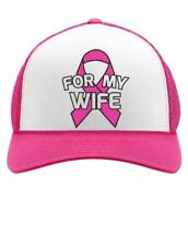 Breast Cancer Awareness - I Wear Pink Ribbon For My Wife Trucker Hat Mesh Cap
