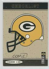 1997 Upper Deck Collector's Choice Green Bay Packers ShopKo Base #GB90 Checklist