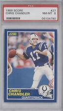 1989 Score #27 Chris Chandler PSA 8 Indianapolis Colts RC Rookie Football Card