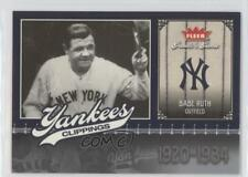 2006 Fleer Greats of the Game Yankees Clippings #NYY-BR Babe Ruth New York Card