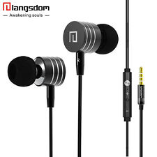 Langsdom In-ear Earphone with mic Stereo Bass Headset Volume Control Earphone