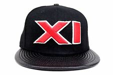 Chicago Bulls Black Melton Faux Pebble Red XI 1996 New Era 59Fifty Fitted Hat