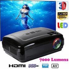 1080P Full HD LED Mini Projector Theater Cinema MulitMedia TV VGA SD HDMI LOT ES