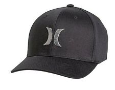 Mens Hurley (Cool Grey) One & Only BW Flexfit Hat