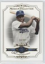 2012 Topps Museum Collection Blue #82 Jackie Robinson Brooklyn Dodgers Card